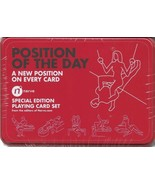 Position of the Day Set of 2 Art Illustrated Playing Cards In Tin Storag... - $14.49