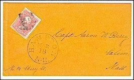 c1862 Hampton NH Vintage Post Office Postal Cover - $9.95