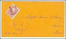 c1862 Hampton NH Vintage Post Office Postal Cover - $9.95