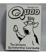 Quao The Ultimate Dictatorship Card Game by Wiggity Bang Games - $14.85