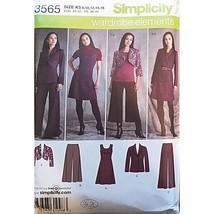 Misses Dress Jumper Pants Jacket Simplicity 3565 Sewing Pattern Size 10-... - $3.99