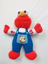"Tyco Talking Elmo Puppy Dog Overalls 11"" Plush Doll 1997 - $19.30"
