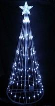 6' Pure White LED Light Show Cone Christmas Tree Lighted Yard Art Decora... - $152.20