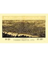 Terre Haute Indiana - Beck 1880 - 23.00 x 37.03 - $36.58+