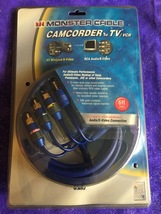 6' Monster Cable Ultimate Camcorder TV/VCR AV Receiver Audio/S-Video Connection - $24.95