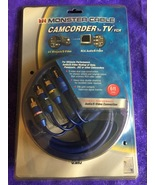 6' Monster Cable Ultimate Camcorder TV/VCR AV Receiver Audio/S-Video Con... - $24.95