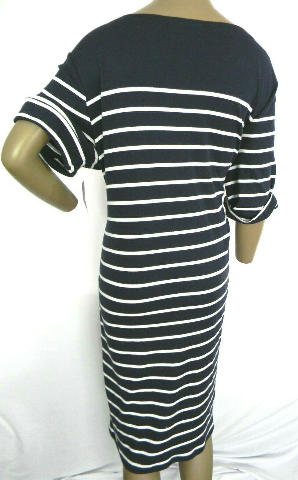 Karen Scott Plus Size 2X,3X Dress Floral Embroidered Striped Shift Dress NEW $54 image 9