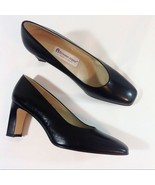 Etienne Aigner Black Leather Valencia Pumps Size 8 EUC - $53.00