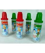 Ideal Snow Sno-Marker Writer Red Green Set of 5 Bottles Winter Fun - $16.99