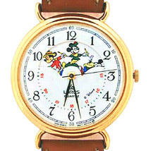 Mickey Disney Rotating Dial Window Of His Characters, Not Worn, RQP020 J... - $133.50