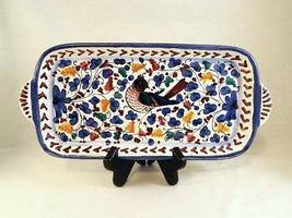 Mexican Folk Art Handcrafted Serving Platter - Colorful, Captivating & U... - $19.89