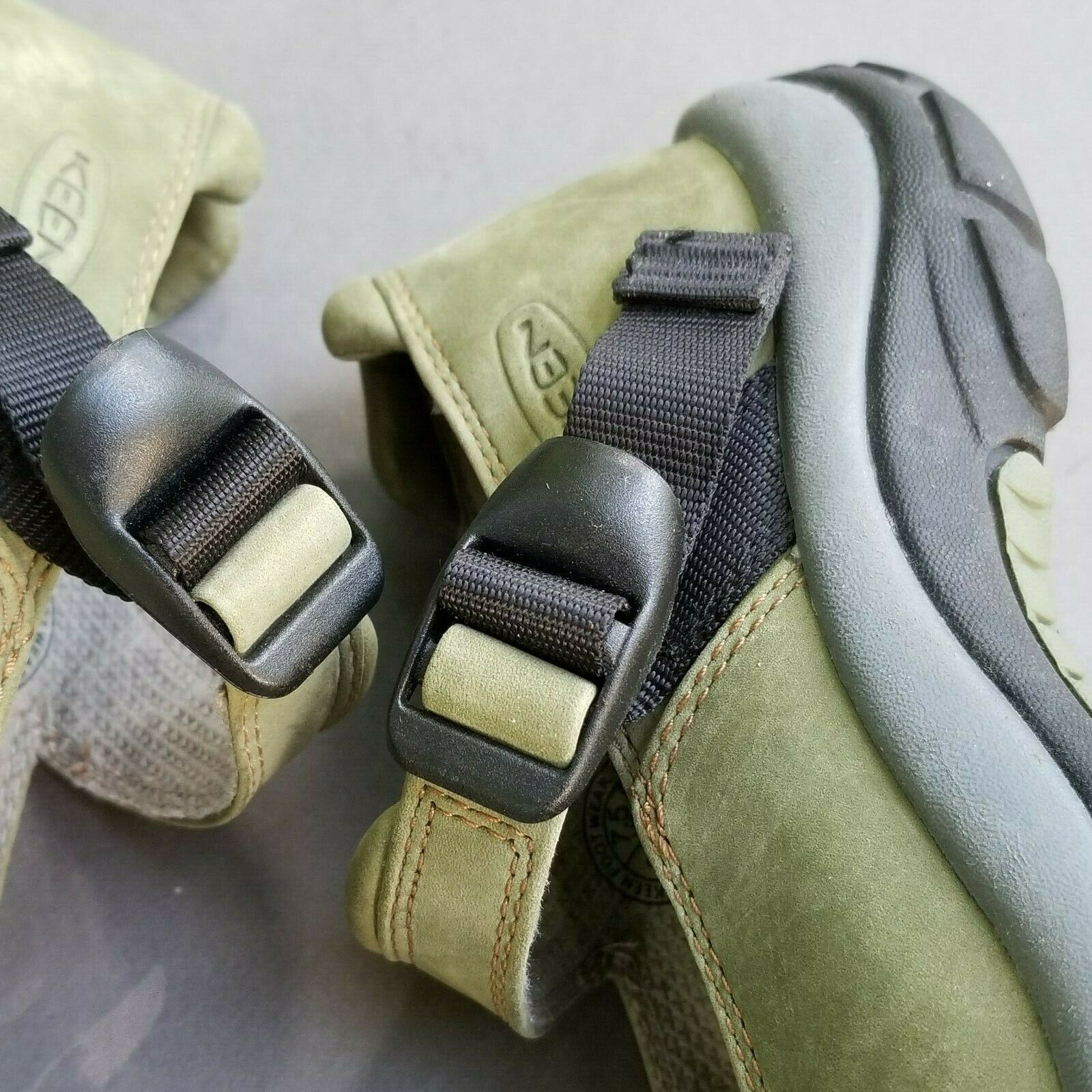 Keen Womens Mary Jane 7.5 Buckle Strap Green Suede Slip On Trail Shoes 38 image 8