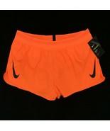 Nike Men's Aeroswift 2'' Running Shorts Bright Orange Standard Fit AQ525... - $69.99