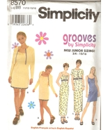 Summer Dress, Jacket Sewing Pattern Juniors 11/12 to 15/16 Simplicity 85... - $5.99