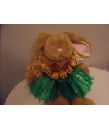"16"" TAN Build A Bear Bunny With Hawaiian Outfit - $15.00"