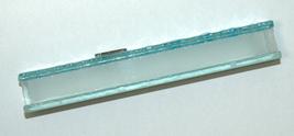 Judaica Mezuzah Case Clear Glass Aqua Bubbles 12 cm Irregular Facet Closed Back image 4