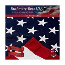 Rushmore Rose USA American Flag - US Flag 3x5 - Made in USA - Home/Garde... - $18.67