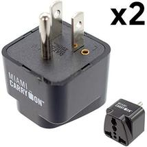 Miami CarryOn USA Travel Adapter [2-Pack], Universal Power Travel Plug A... - $8.99
