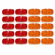 20x 10 Diodes Double Bullseye Red+Amber Trailer Marker LED Light Clearance - $34.02