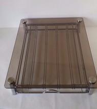 MCM Like Smoked Glass Metal Desk Organizer Drawer - $29.69