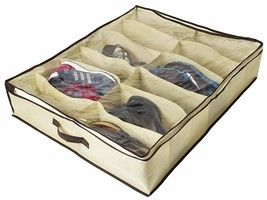 Under Bed Underbed Shoes Organizer Closet Storage Breathable Materials Z... - £24.45 GBP