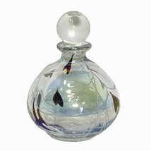 Silvestri Handblown Perfume Bottle with Stopper Iridescent Studio Art Gl... - $48.96