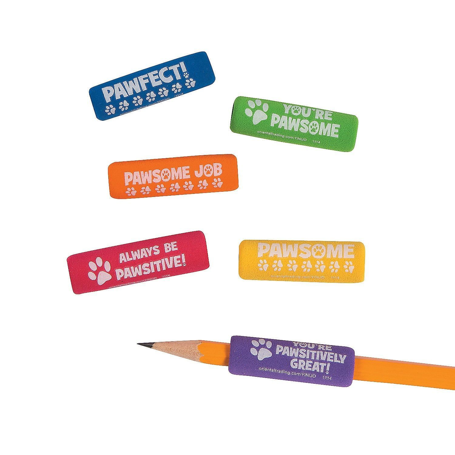 Paw Print Pencil Grips (12 Pack)