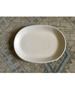 "1960s Corning Ware White Coupe Centura 11"" Oval Serving Platter - $20.00"