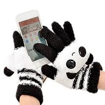 QingLuo Women/Girl Cute Cartoon Warm Gloves Coral Fleece Finger Touch Sc... - $11.89
