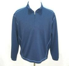 PEBBLE BEACH Men's Medium Blue Performance Golf 1/2 Zip Sweater Sweatshi... - $9.95