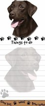 LABRADOR LAB CHOCOLATE DOG DIECUT LIST PAD NOTES NOTEPAD Magnetic Magnet - $7.99
