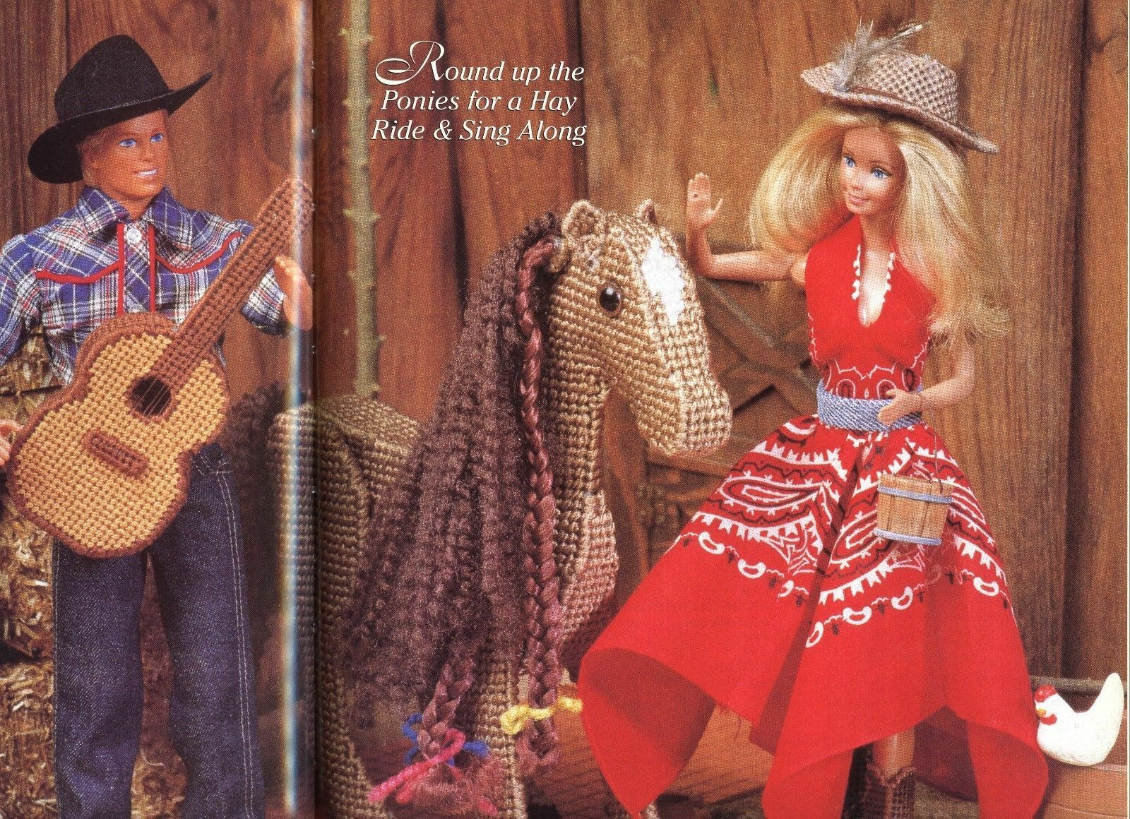 Fashion Doll Fantasy ~ Plastic Canvas Crochet Sew Patterns fit Barbie dolls