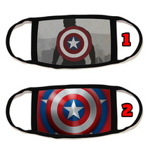 Captain America Face Mask with black string reusable washable #12 - $14.54+
