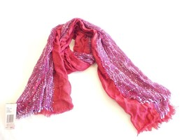 $28.00 Collection XIIX Metallic Textured Scarf, Glazed Raspberry - $11.14