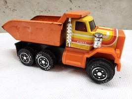 Ertl Orange Pressed Metal and Plastic Dump Truck Vintage 1980's - $30.00