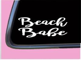 "Beach Babe TP 297 Sticker 8"" Decal sand girl tanning oil lotion bikini - $4.99"