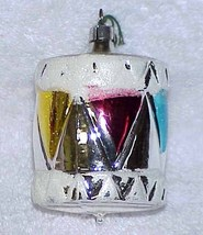 Vintage Glass DRUM Christmas Ornament - West Germany - NOS Circa 1982 - $10.00