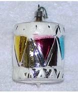 Vintage DRUM Glass Christmas Ornament - West Germany - NOS Circa 1982 - $9.99