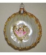 Vintage Glass Christmas Tree Ornament Scrap Angel Pink - $12.99