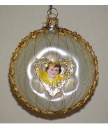 Vintage Glass Christmas Tree Ornament Scrap Angel Yellow - $12.99