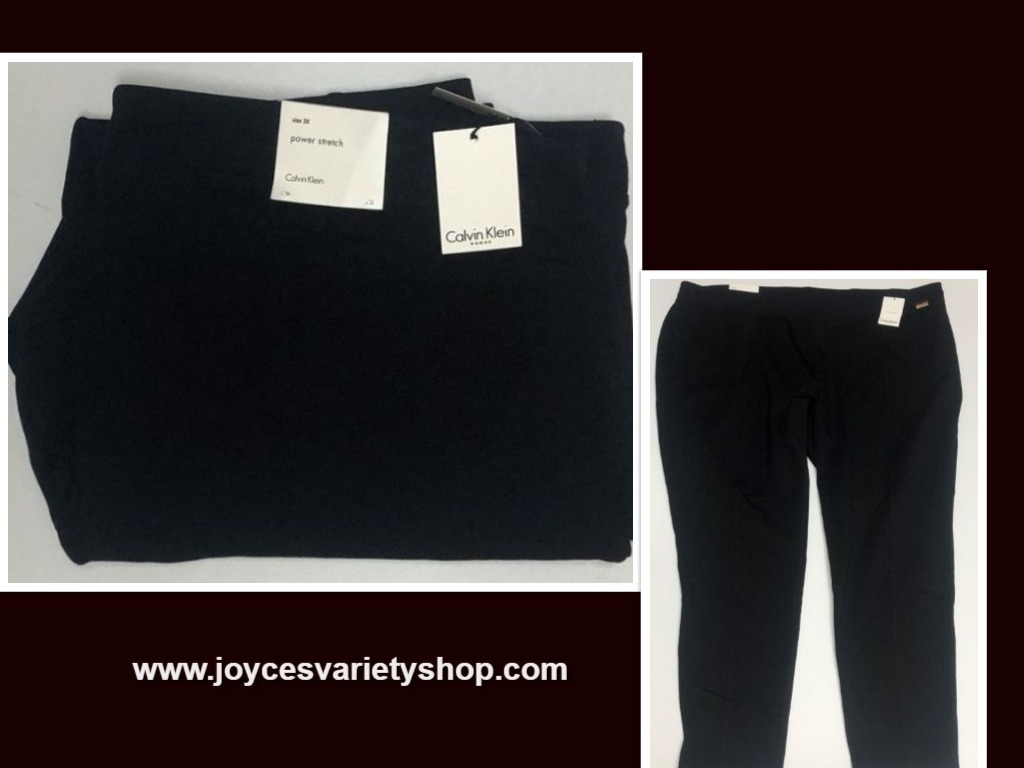 Calvin Klein Power Stretch Black Pants Women Sz 3X