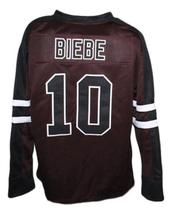 Any Name Number Mystery Alaska Movie Hockey Jersey Brown Biebe Any Size image 5