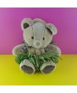"""Dakin Plush Teddy Bear Hawaii 13"""" Stuffed Animal Hula Grass Skirt 1985 - $28.71"""