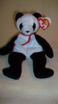Fortune the Panda Bear Ty Beanie Baby DOB12/6/1997 2 errors Tush Tag Date - $6.92