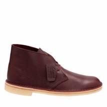 Clarks Originals Desert Boot Men's Burgundy Tumbled Leather 26125547 - $130.00