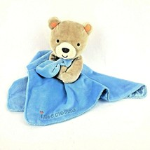 Magic Years Baby Lovey Bear Plush Blue Security Blanket Rattle Toy I Love Mommy - $22.97
