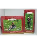 2 Hallmark Harley-Davidson Barbie Ornaments 2000 & 2001 Die-Cast Motorcy... - $18.99