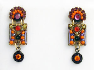 Signed ADAYA Maya Micro Mosaic Earrings