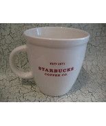 Starbucks Coffee Company Collector Souvenir Mug Cup Collector Souvenir 1971 - $9.99