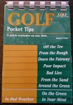 Golf Pocket Pointers Quick Reminder on Any Shot Off the Tee, Bad Lie, Pu... - $4.90